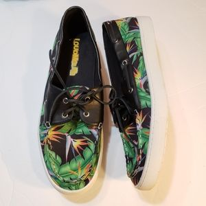 NEW Loudmouth Tropical Print Sailor Boat Shoes 13M